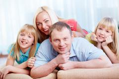 All family together Stock Photos