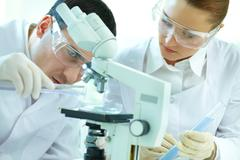 Scientific scrutiny Stock Photos