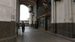 English Pub at Canary Wharf - stock footage