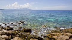 Seascape with small island, Koh Lipe, Thailand - stock photo