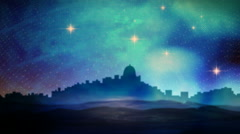 Bethlehem Starry Night Stock Footage