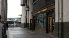 The Cat and Canary pub at Canary Wharf Stock Footage
