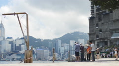 A group of fishermen in Hong Kong 4K Stock Footage