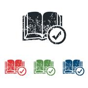 Select book grunge icon set Stock Illustration