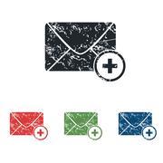 Stock Illustration of Add letter grunge icon set