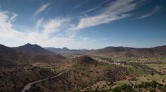 4k anti atlas lush valley mountain nature morocco landscape Stock Footage