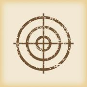 Grungy aim icon Stock Illustration