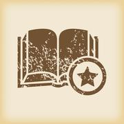 Grungy favorite book icon Stock Illustration
