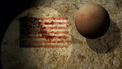 4k rust rock flag made in america strong amazing inspiring representing - stock footage