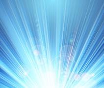 Blue shining magic light background - stock illustration