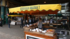 Stock Video Footage of Famous Borough market in London