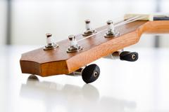 Close-up Part of ukulele guitar Stock Photos