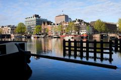 Stock Photo of City of Amsterdam River View