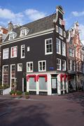 Traditional Houses in Amsterdam Stock Photos