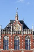 Amsterdam Central Station Architectural Details - stock photo