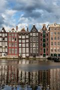 Houses in Amsterdam - stock photo