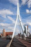 Erasmus Bridge in Rotterdam - stock photo