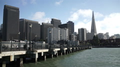 San Francisco downtown towers, pier and waterfront. Stock Footage