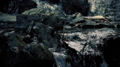 Dramatic Rocky Stream Flowing Closeup Stock Footage