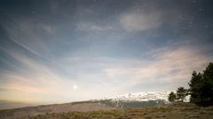 4k atlas mountains stars starlapse night sky astronomy Stock Footage