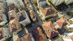 Aerial view of a residential area of Istanbul on a clear bright day Stock Footage