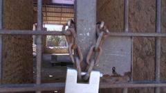 Pompeii house closed Stock Footage