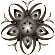 Silver openwork arabesque  floral design Stock Illustration