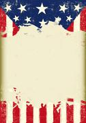 Stock Illustration of USA dirty flag