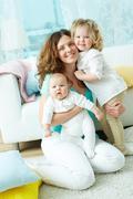Happy family life - stock photo