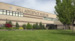 Hill AFB Utah Aerospace Museum military aircraft entrance 4K - stock footage