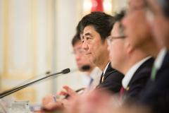Stock Photo of Prime Minister Shinzo Abe