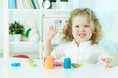 Fun at nursery - stock photo