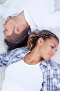 Restful couple - stock photo