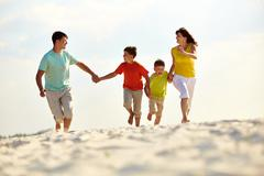 Carefree family Stock Photos