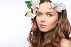 Spring hairstyle Stock Photos