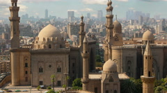 Mosque of Sultan Hassan. Cairo.  Egypt. Timelapse Stock Footage