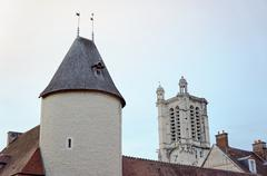 The bastion and the tower of the cathedral - stock photo