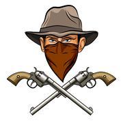 Bandit wit a Guns Stock Illustration