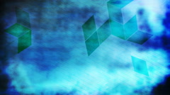 Blue Rhombus 1080  background - stock footage
