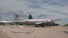 Hill AFB Utah historical military cargo passenger aircraft 4K Stock Footage
