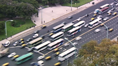 Argentina Buenos Aires street traffic time lapse Stock Footage