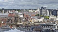 Time lapse leeds city centre skyline united kingdom Stock Footage