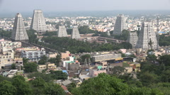 Large Hindu temple complex in Tiruvannamalai, South India Stock Footage