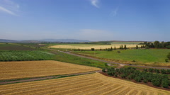 4K Israeli Agricultural Land in Northern Israel Stock Footage