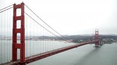 Golden Gate Bridge, high view point. Stock Footage