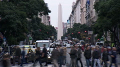 Argentina Buenos Aires street time lapse Stock Footage