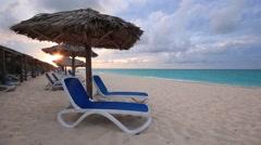 Caribbean Beach Resort Sunset Stock Footage