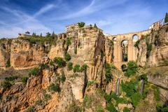 Ronda, Spain at the Puente Nuevo Bridge. - stock photo