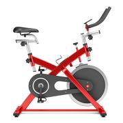 Stock Illustration of stationary exercise bike isolated on white background