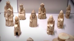 The Lewis Chessmen Stock Footage